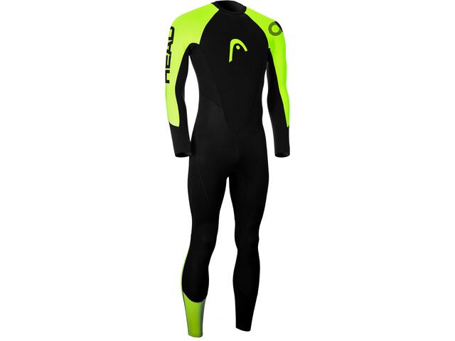 Head OW Explrr FS 3.2.2 Wetsuit Men black lime